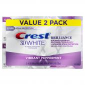 Crest 3D White Brilliance Toothpaste Mint x 2