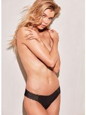Besiūlės kelnaitės iš Victoria's Secret juodos spalvos