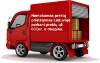 Nemokamas prekių pristatymas Lietuvoje perkant prekių už 60€ ir daugiau.
